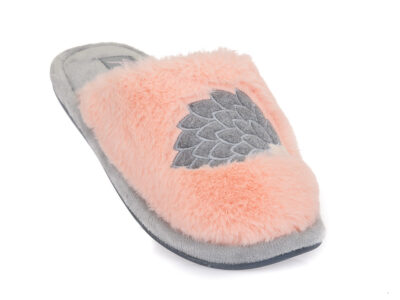 Γυναικείες χειμερινές υφασμάτινες παντόφλες PAREX 10124106 PINK