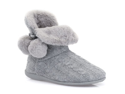 Γυναικείες χειμερνές παντόφλες μποτάκια B-SOFT 2053 GREY