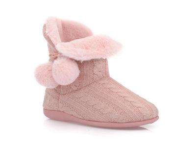 Γυναικείες χειμερνές παντόφλες μποτάκια B-SOFT 2053 PINK
