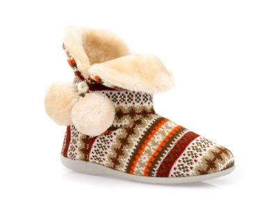 Γυναικείες χειμερνές παντόφλες μποτάκια B-SOFT 2055 BEIGE