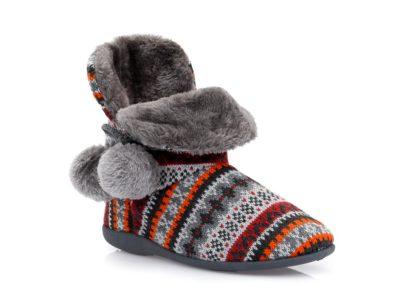Γυναικείες χειμερνές παντόφλες μποτάκια B-SOFT 2055 GREY