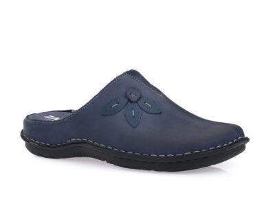 Γυναικείες δερμάτινες ανατομικές παντόφλες ZARKADI 34877 BLUE