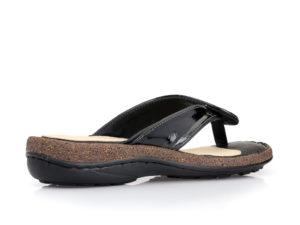 Γυναικείες δίχαλες ανατομικές παντόφλες PAREX 12212001 BLACK
