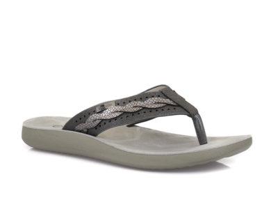 Γυναικείες δίχαλες καλοκαιρινές παντόφλες εξόδου BLONDIE 31/210 BLACK