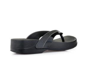 Γυναικείες δίχαλες παντόφλες θαλάσσης PAREX 11817063 BLACK