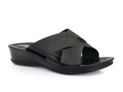 Γυναικείες καλοκαιρινές ανατομικές παντόφλες PAREX 12119012 BLACK
