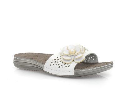 Γυναικείες καλοκαιρινές ανατομικές παντόφλες TIGLIO 4307 WHITE