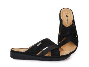Γυναικείες καλοκαιρινές παντόφλες εξόδου BLONDIE 31/215 BLACK