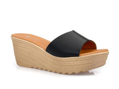 Γυναικείες καλοκαιρινές παντόφλες πλατφόρμες BLONDIE SIR 15701 BLACK