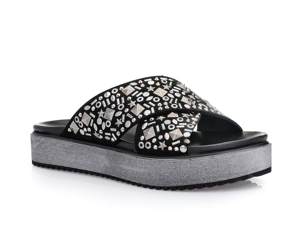 9d51f8ef59a Γυναικείες καλοκαιρινές παντόφλες πλατφόρμες MIGATO MR 3064 BLACK ...