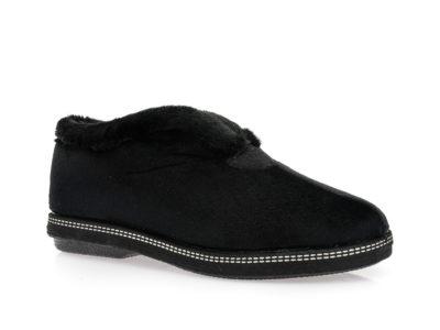 Γυναικείες κλειστές χειμερινές παντόφλες COMFY 16003 BLACK