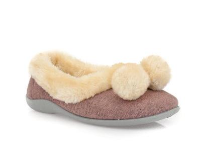 Γυναικείες κλειστές χειμερινές παντόφλες PAREX 10120138 PINK