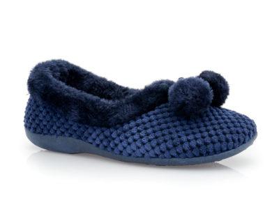 Γυναικείες κλειστές χειμερινές παντόφλες SABINO TM 005C-1311 BLUE