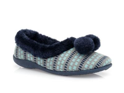 Γυναικείες κλειστές χειμερνές παντόφλες B-SOFT 1306 BLUE