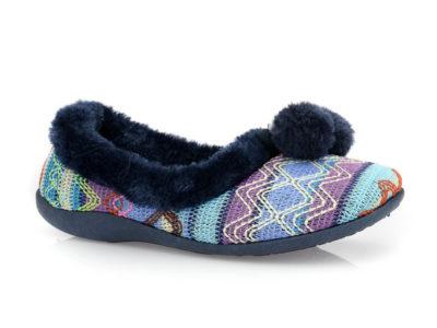 Γυναικείες κλειστές χειμερνές παντόφλες B-SOFT 1307 BLUE