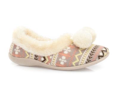 Γυναικείες κλειστές χειμερνές παντόφλες B-SOFT 1307 FUCHSIA