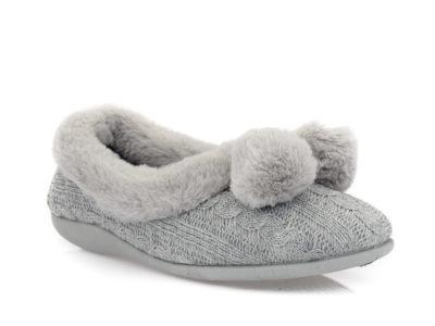 Γυναικείες κλειστές χειμερνές παντόφλες B-SOFT 1323 GREY
