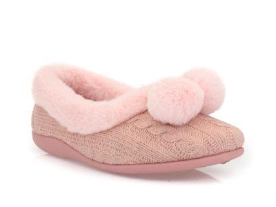 Γυναικείες κλειστές χειμερνές παντόφλες B-SOFT 1323 PINK