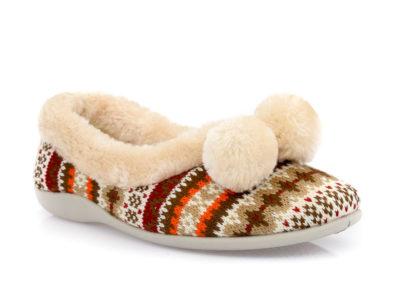 Γυναικείες κλειστές χειμερνές παντόφλες B-SOFT 1327 BEIGE