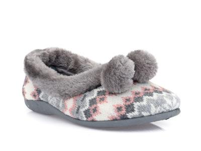 Γυναικείες κλειστές χειμερνές παντόφλες B-SOFT 1327 PINK
