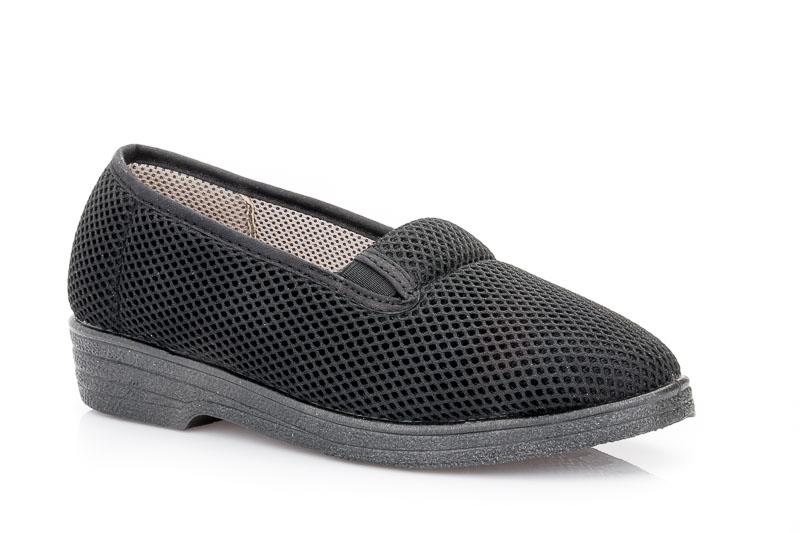 Γυναικεία υφασμάτινα καλοκαιρινά παπούτσια FAME NL 2400. BLACK