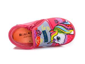 Κοριτσίστικα ανατομικά χειμερινά παντοφλάκια MINIMAX G UNIC FUXIA