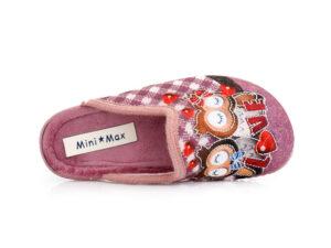 Κοριτσίστικα ανοιχτά χειμερινά παντοφλάκια MINIMAX 23577 MALVA