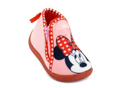 Κοριτσίστικα χειμερινά κλειστά παντοφλάκια Minnie DISNEY DM 003923 PINK