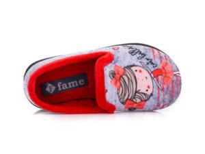 Κοριτσίστικα κλειστά χειμερινά παντοφλάκια FAME 1561 RED