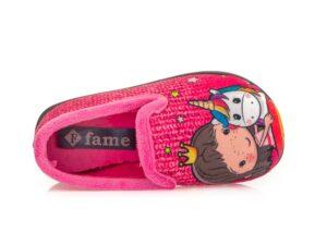 Κοριτσίστικα κλειστά χειμερινά παντοφλάκια FAME NL 1804 FUXIA