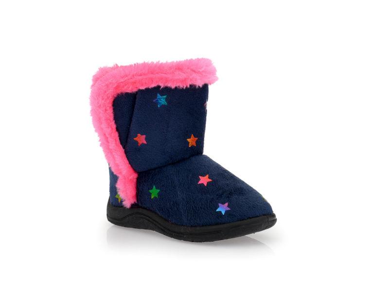 Κοριτσίστικα κλειστά χειμερινά παντοφλάκια μποτάκια FAME 42/100 NAVY