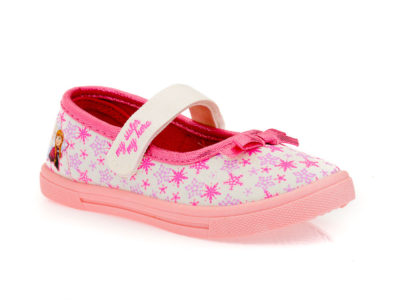 Κοριτσίστικα πάνινα παπουτσάκια FROZEN DISNEY FZ 006343 WHITE
