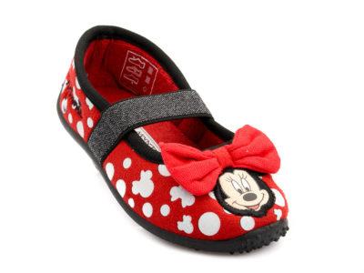 Κοριτσίστικο κλειστό παντοφλάκι Minnie DISNEY DM 000069 RED